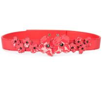 Gürtel mit Blumenapplikationen