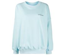 Oversized-Pullover mit Logo