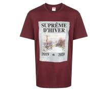 T-Shirt mit Winter-Print