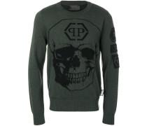 skull motif jumper