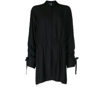 shirt dress with frill sleeves