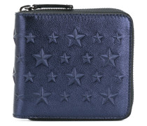 Lawrence star studded zip around wallet