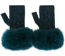 Handschuhe mit Fuchspelzbesatz