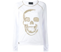 Sweatshirt mit Totenkopfstickerei - women