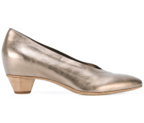 Metallic-Pumps mit spitzer Kappe