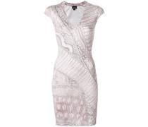 snakeskin printed bodycon dress