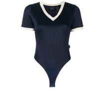 v-neck jersey bodysuit