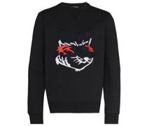 Sweatshirt mit aufgesticktem Fuchs