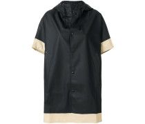 contrast trim oversized coat