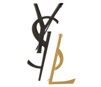 Dekonstruierte Monogramm-Brosche