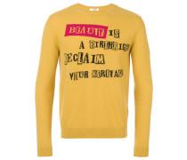 "Intarsien-Pullover mit ""Beauty is a Birthright'-Motiv"