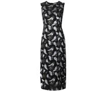 Kleid mit metallischem Blumenmuster