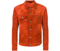 fitted suede jacket