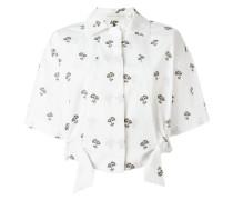 Cropped-Hemd mit Gänseblümchen-Print