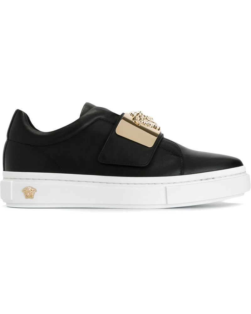 home damen schuhe sneaker versace sneakers mit klettverschluss. Black Bedroom Furniture Sets. Home Design Ideas