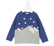Intarsien-Pullover mit Bergmotiv