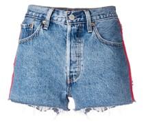 Jeansshorts mit seitlichen Streifen