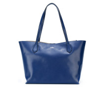 Shopper mit Logo-Print - women - Leder