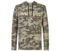 camouflage logo hoodie