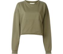 Cropped-Sweatshirt mit Taschen