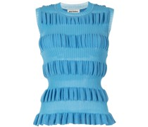 sleeveless ribbed knitted top