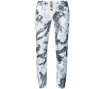 Skinny-Jeans mit Glitzerapplikationen
