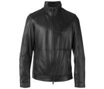 Jacke mit Stehkragen - men - Leder/Polyester - S
