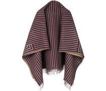Gestreifter Schal mit Fransen