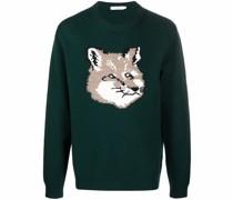 Big Fox Head knitted wool jumper