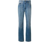 stripe detail straight leg jeans