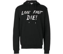 """Kapuzenpullover mit """"Live Fast Die!""""-Aufschrift"""