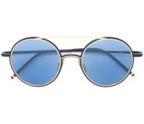 Runde Sonnenbrille mit Akzenten aus 18kt Gold
