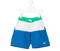- colour block swim shorts - kids - Polyester