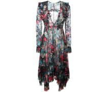 Asymmetrisches Kleid mit floralem Print