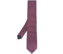 slanted square pattern tie