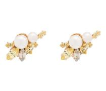 'Flower' Ohrringe mit Kriostallen