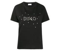 'Disco' T-Shirt mit Stern-Print
