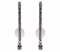 Skull drop stud earrings