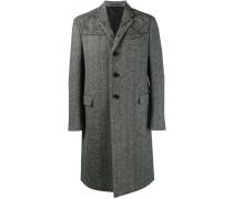 Einreihiger Mantel mit Hahnentrittmuster