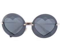 Runde Sonnenbrille mit Herzdesign - women