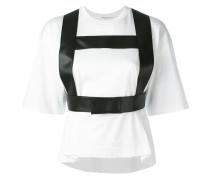 - T-Shirt mit Gurtzeug - women - Baumwolle/Leder
