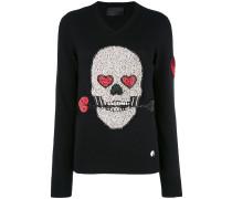 Pullover mit Totenkopf-Verzierung