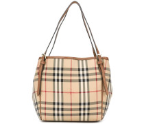 house check double-handled tote