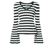 striped wide sleeve top
