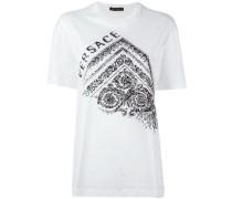 T-Shirt mit floralem Logo