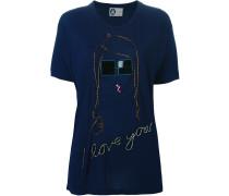 T-Shirt mit aufgestickten Pailletten