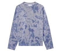 Frottee-Sweatshirt mit Batik-Print