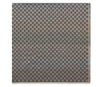 Jacquard-Schal mit GG-Muster