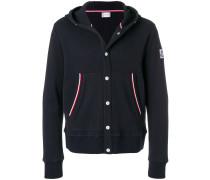 press stud hooded jacket