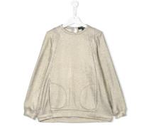 Sweatshirt mit metallischen Nähten